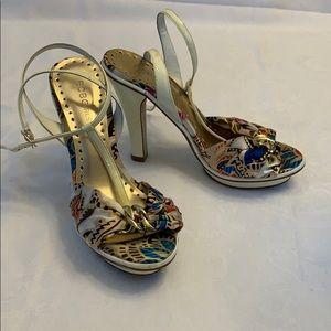 BCBGirls - Strappy Fabric Heel -Multicolor -Size 7